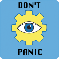 Don't Panic Difference Engine logo